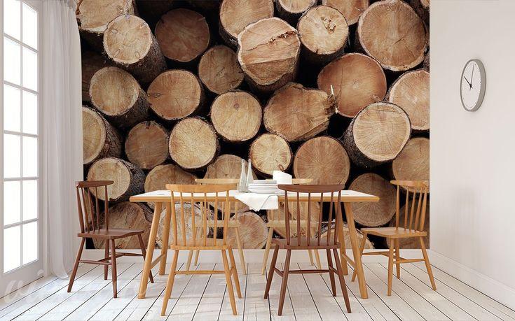 Aranżacja Fototapety Nieopodal stosów drewna