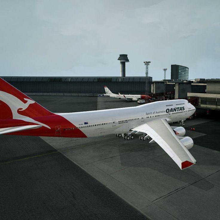Qantas 747-400   Arlanda.