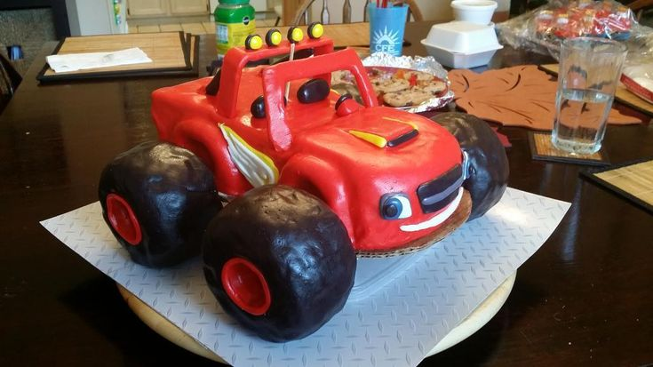 Looking for cake decorating project inspiration? Check out Blaze and the Monster Machines cake by member causticmuse.