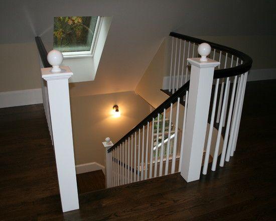 Internal stairs to back door/study/rumpus room. Use skylight in stairwell.