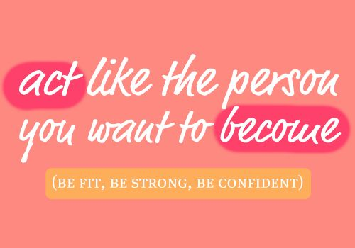 Fit strong confident