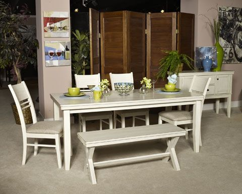 Elegant Signature Design By Ashley Arrowtown Arrowtown   White Rectangular Dining  Room Table ,, White   Big Sandy Superstores