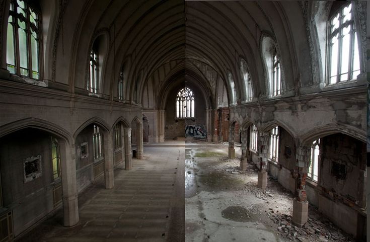Detroiturbex.com - Now and Then; sad before and after pictures of deteriorating Detroit, a dying city