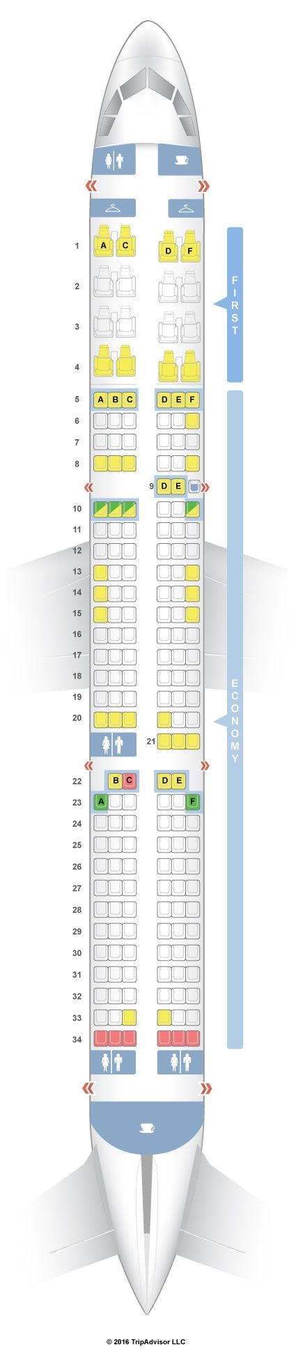 SeatGuru Seat Map American Airlines Airbus A321 (321) V3