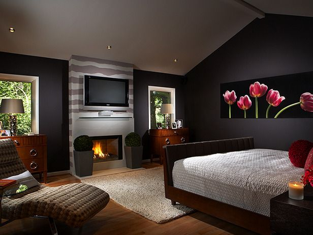 modern master bedroom with fireplace my virtual home pinterest. Black Bedroom Furniture Sets. Home Design Ideas