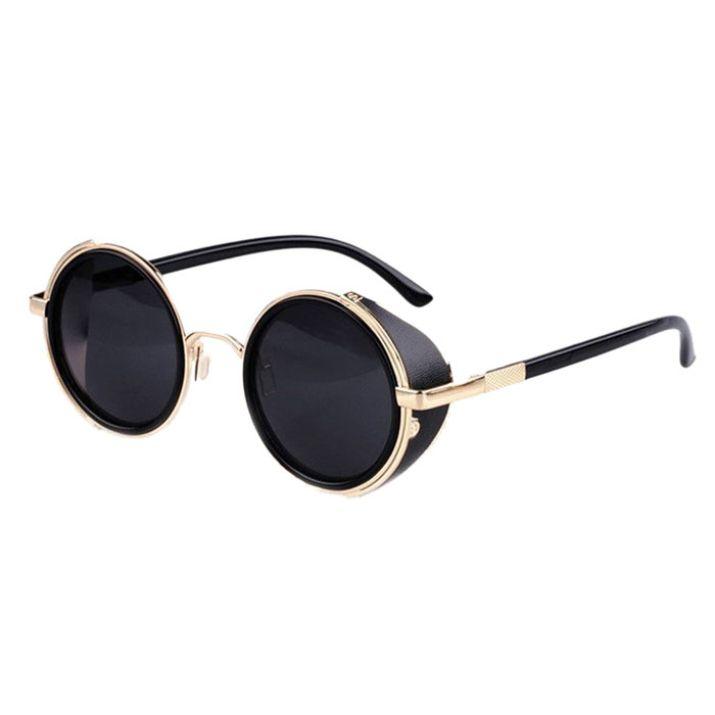 Новое 2015 зеркальные линзы круглые очки кибер очки стимпанк очки старинные ретро для мужчин купить на AliExpress