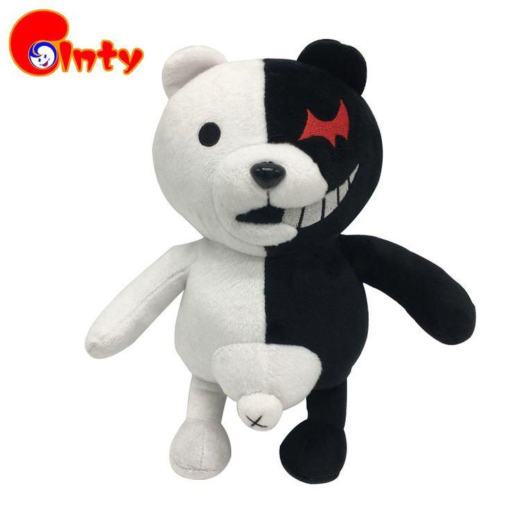 Cute 25cm Cartoon Dolls Dangan Ronpa Monokuma Doll Plush Toys Black White Bear Top Quality Kids Toys Children Birthday Present #Affiliate