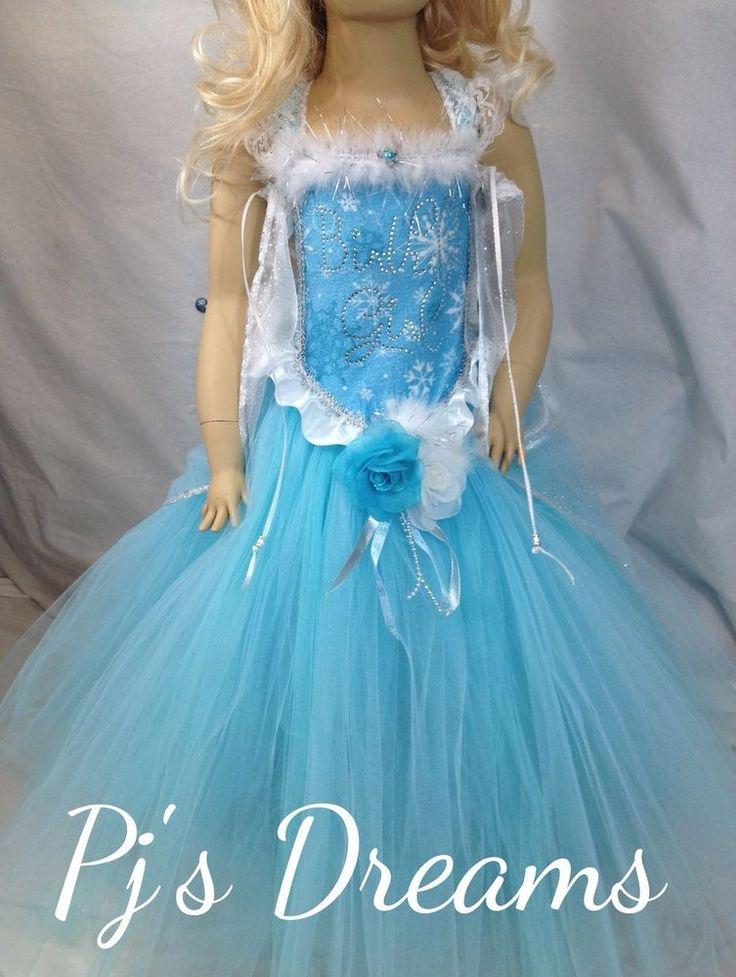 Elsa Disney Frozen inspired frozen tutu dress Birthday Girl costume store party #PjsDreams
