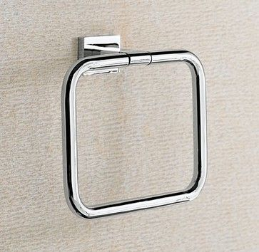 Modern Towel Ring - modern - towel bars and hooks - other metro - Restoration Hardware