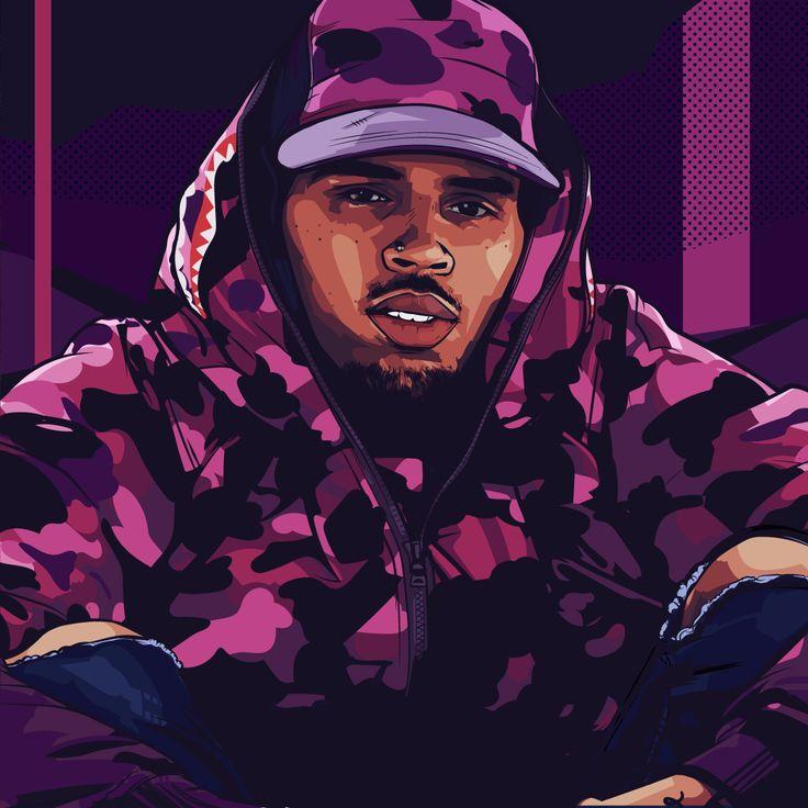 Chris Brown Art by Samona Lena