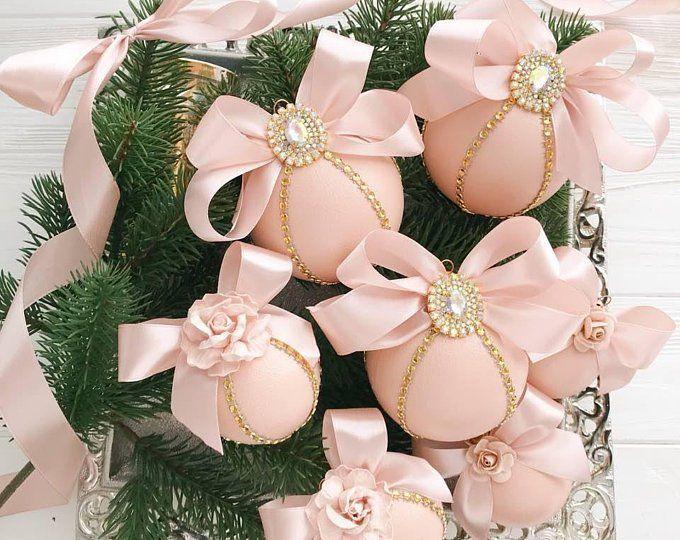 Christmas Ornaments Handmade Unique Christmas Ornaments Set Christmas Tree Vintage Christmas Shabby Chic Christmas Ornament