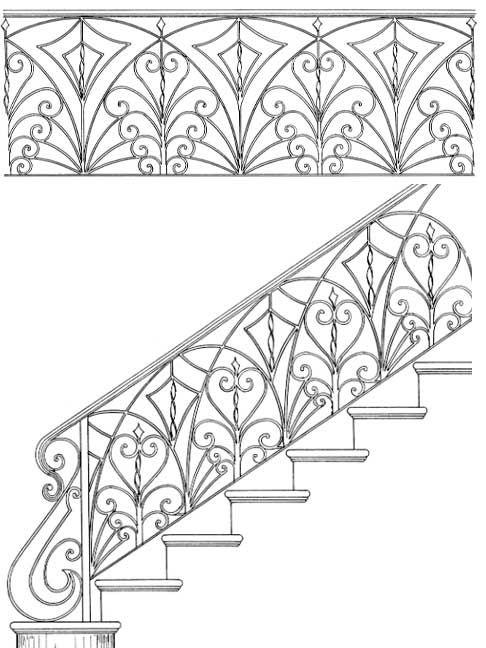 Interior Handrails | Fleur De Lis | Iron Railings