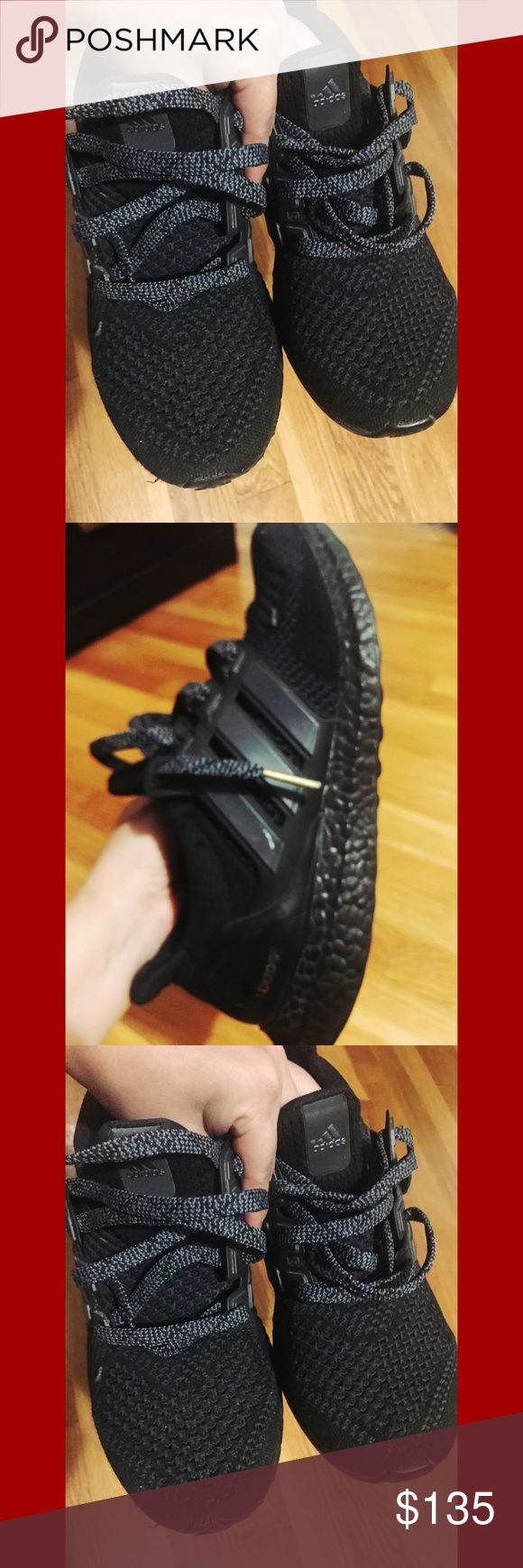 Adidas Ultra Boost Size 8.5 in excellent used condition. Black. ✨AUTHENTIC✨ price firm unless bundled, non lowball offers will be considered adidas Shoes Sneakers