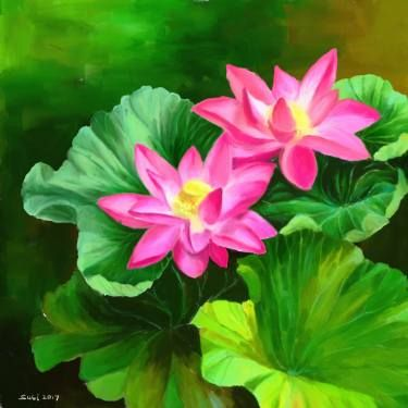 "Saatchi Art Artist Susi Cahyani; New Media, ""Lotus - Limited Edition 1 of 2"" #art"