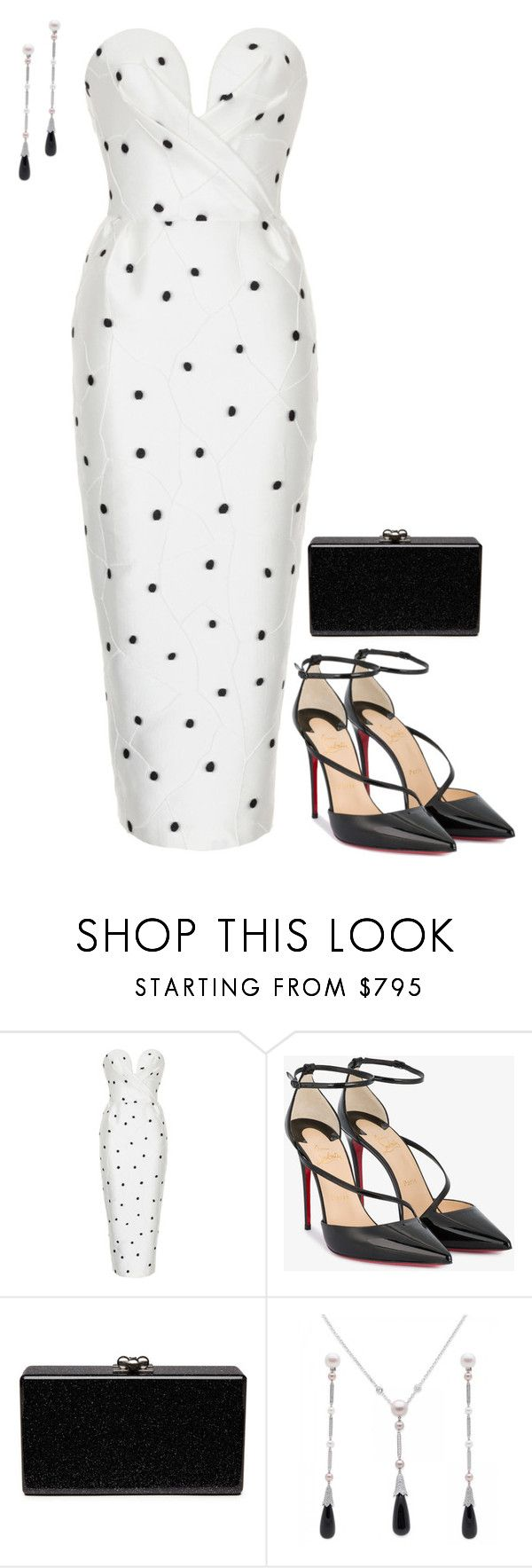 """Untitled #4159"" by injie-anis ❤ liked on Polyvore featuring Rasario, Christian Louboutin, Edie Parker and Cartier"