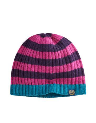 Joules null Womens Knitted Hat, Dark Violet.                     When the wind starts to chill your head and ears, this wool-rich hat is ready to come to the rescue.