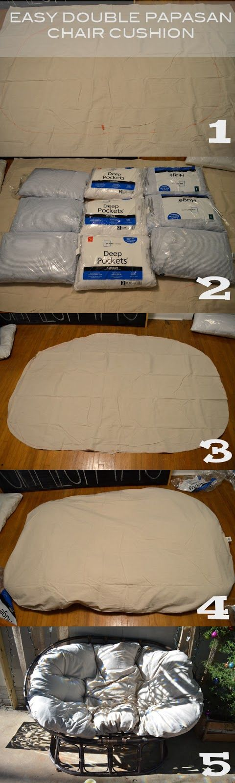 Double Papasan Chair Cushion Tutorial