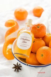 homemade  tangerine liqueur recipie// Mandarinenlikör Rezept
