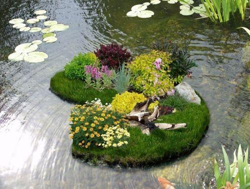 Плавающие клумбы. Как сделать миниатюрный сад на воде своими руками | Строительный портал