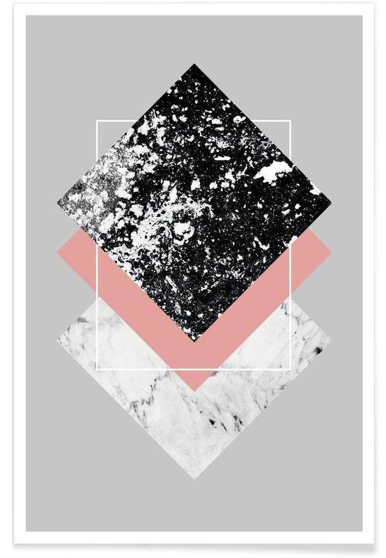 Geometric Textures 1 als Premium Poster von Mareik…