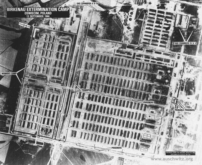 On 13 September 1944 IG Farbenindustrie chemical plant was bombed for thirteen minutes. Few bombs fell on the area of Auschwitz I and Auschwitz II-Birkenau camps. Over 40 prisoners and 15 SS men died because of the air raid. Many were wounded. In Birkenau bombs damaged the railroad embankment and the connecting track to the crematoria. At the chemical plant bombs destroyed many damages and approximately 300 people were killed among them many prisoners who worked there.  During the air raid…