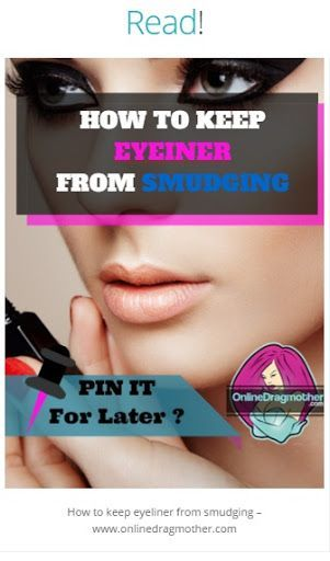 Read ODM's blog post below to find out how you can prevent your liner from smudging in drag! - 4 Useful Videos!
