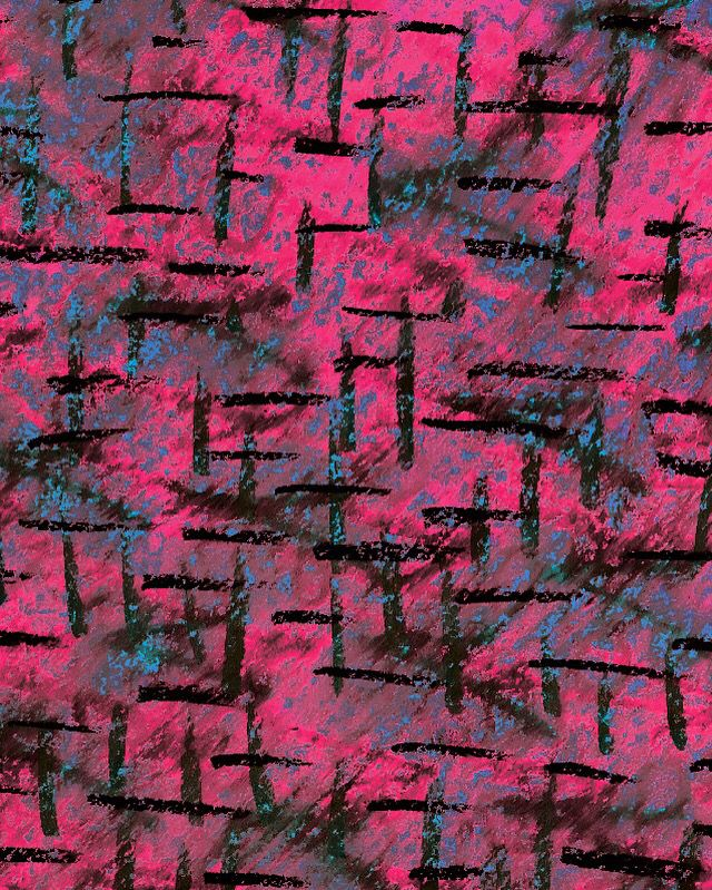 One of my textile designs #linnhartman #fashion #graphic #design #alloverprint #colours #hotpink #scratches