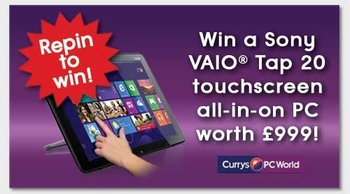 REPIN TO WIN!  The @Sony UK VAIO® Tap 20 is designed with touch in mind. Powered by a Intel® Core™ i5 processor and Windows 8, the VAIO® Tap 20 is a truly portable, interactive desktop PC.