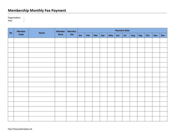 23-Membership-Monthly-Fee-Paymentjpg sheets for printing - monthly payment template