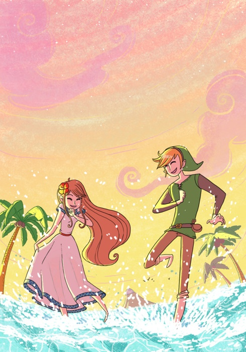 Marin and Link. My first Zelda love story. Remember the ...