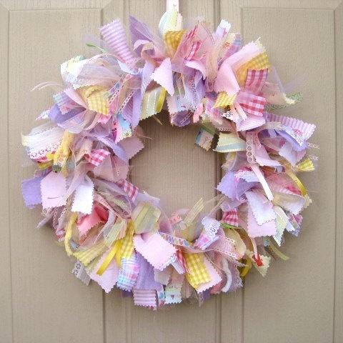 Newborn Baby Girl Wreath, Baby Door Wreath, Baby Shower Wreath, Nursery Decor, Baby Girls Room Decoration, Wreath for Hospital Door. via Etsy.