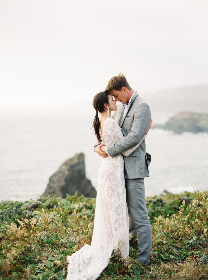 Textured Modern Wedding Inspiration in lace Emily Riggs gown. #erichmcveyworkshop