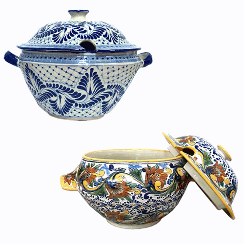 Soup anyone? Any recipe would look yummy in our lovely Talavera tureen!