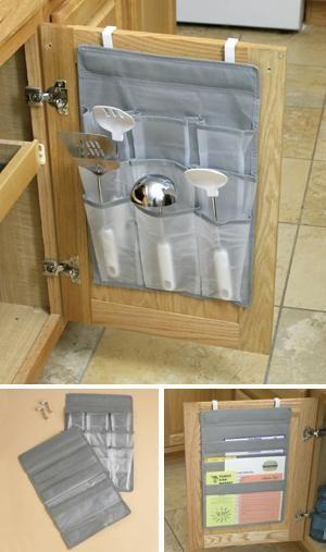 over the cabinet door organizer file pocket hut pinterest storage organization. Black Bedroom Furniture Sets. Home Design Ideas