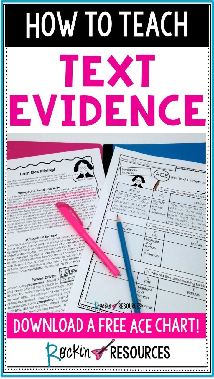 Are your students having trouble finding answers and citing evidence in their reading? This STEP-BY-STEP process scaffolds through reading strategies to help your students be successful! Students will learn the acronyms for ACE and RAP to provide them with the proper tools for citing evidence effectively along with tips to keep them engaged!
