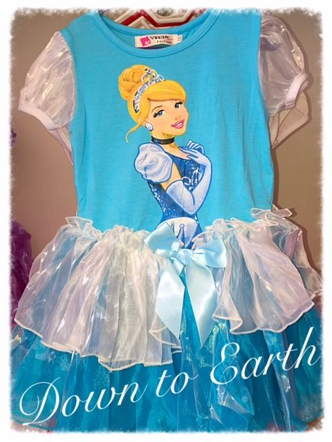 Organza and Cotton Cinderela Dress in Blue and White. Every little girls dream to be the Princess who has a happy Fairy tale ending. With this comfortable summer dress she can be a princess every day.