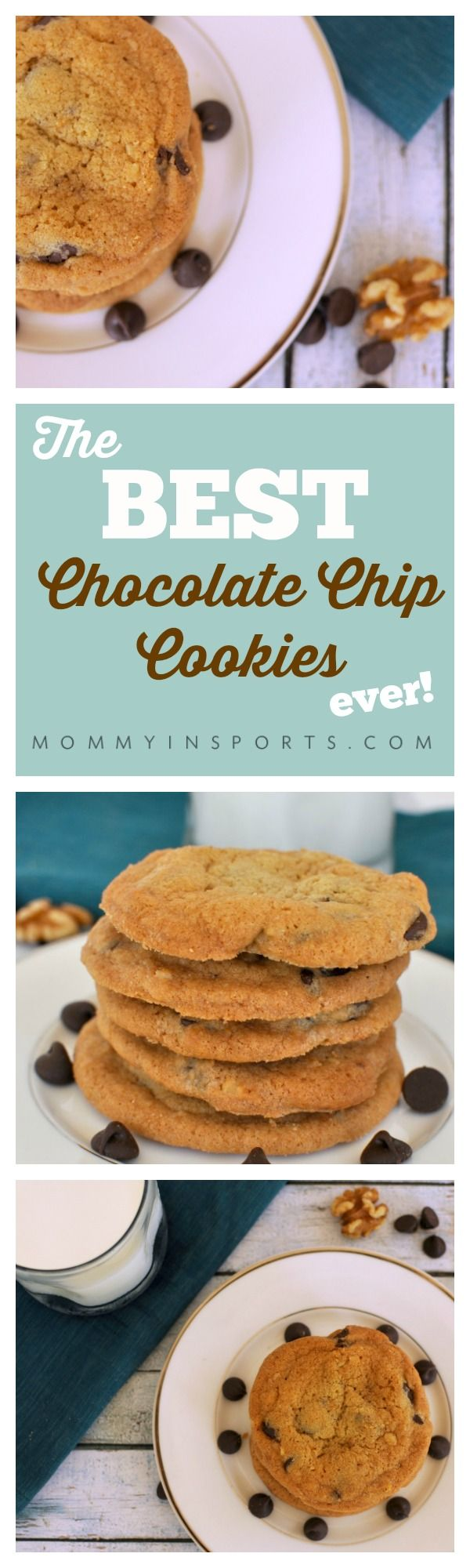 The BEST Chocolate Chip Cookies ever!  Crispy on the outside, soft on the inside, and absolutely decadent!  The only recipe you'll ever need!