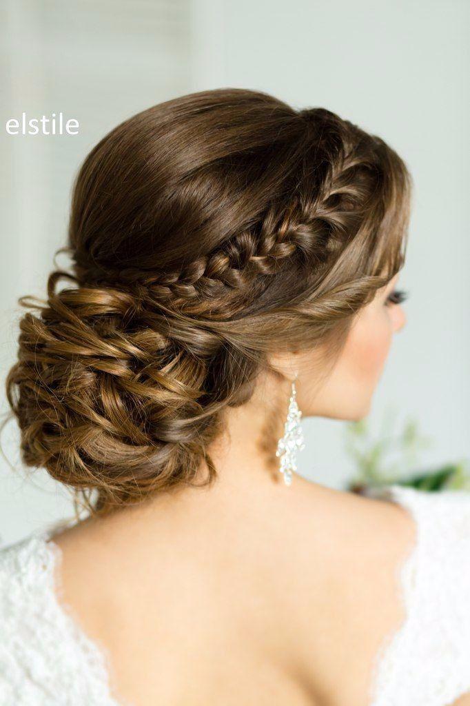 Recogidos Con Trenza Recogido Con Trenzas Peinados Elegantes Peinados Recogidos Elegantes