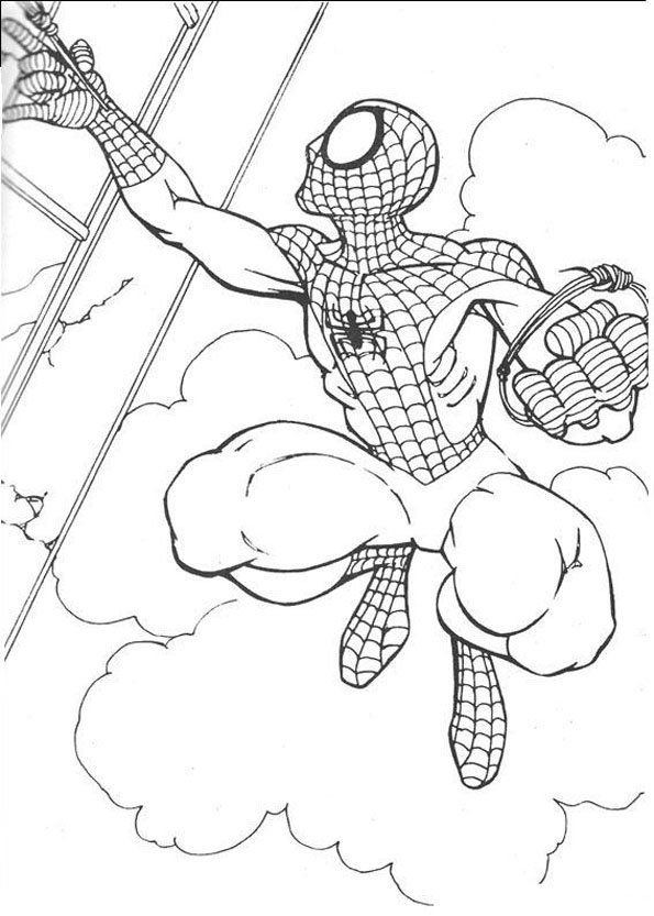 Coloriage Spiderman (1) - Momes.net