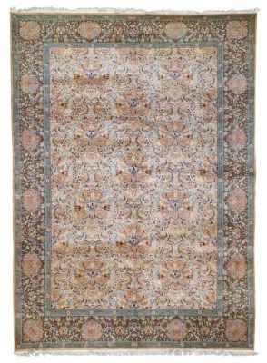 HEREKE CARPET  NORTH WEST ANATOLIA, CIRCA 1940  Hereke signature at one end, very good overall condition  11ft.4in. x 8ft. (344cm. x 244cm.)