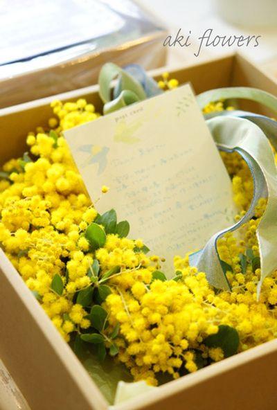 ミモザリース 春のギフト|Relax with flowers * AKI FLOWERS @ 国立