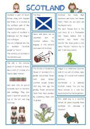 English worksheet: ENGLISH-SPEAKING COUNTRIES (11) SCOTLAND