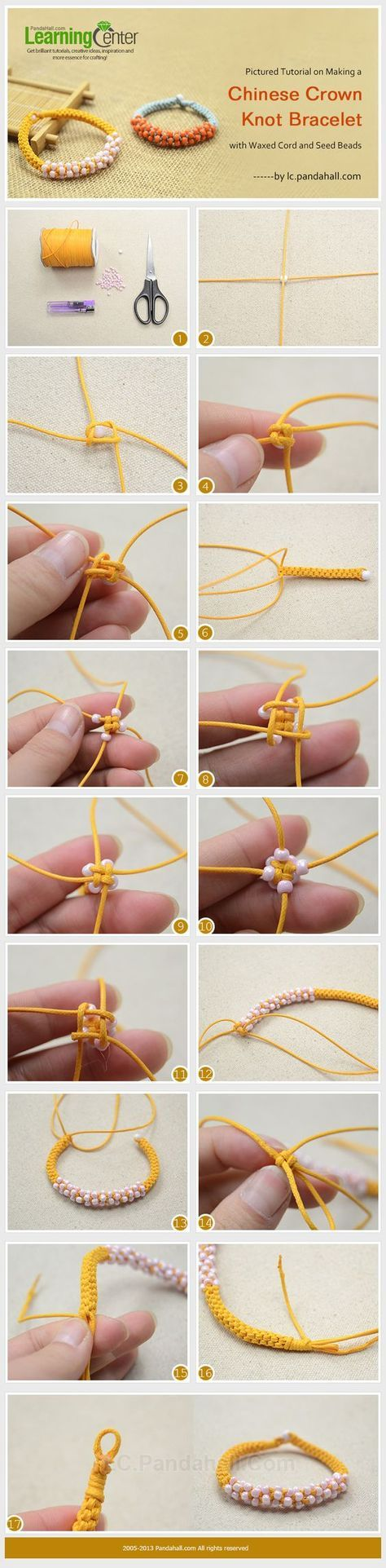 waxed cord bracelet instructions