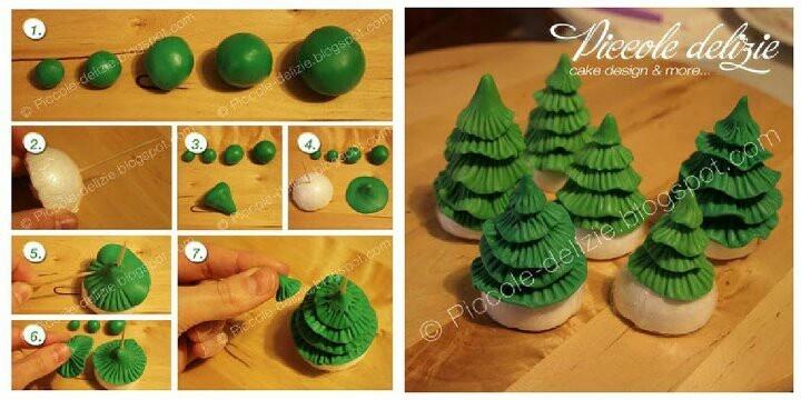 .christmas tree  cupcakes