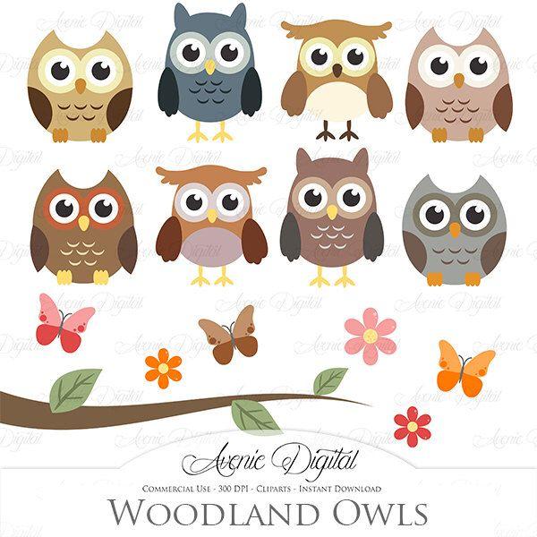 Cute Owl Clipart. Scrapbooking printables, Baby owls clip ...
