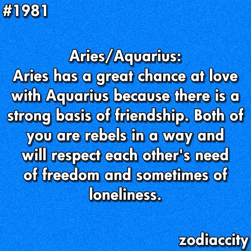 marriage built on friendship is fantastic...it's a good thing that he's a passionate Aries