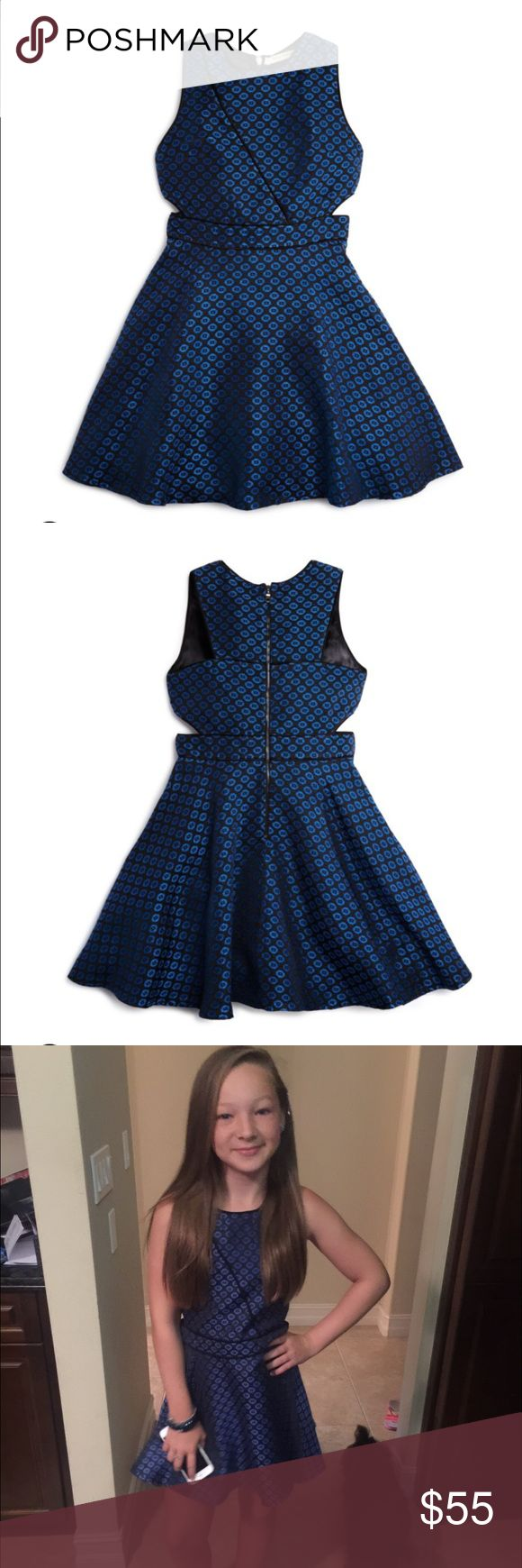 Miss Behave girls size L blue and black dress. Miss Behave girls Large blue and black dress. Adorable and in EUC. Worn once for her 5th grade graduation. It was tailored to fit her perfectly. miss behave girls Dresses