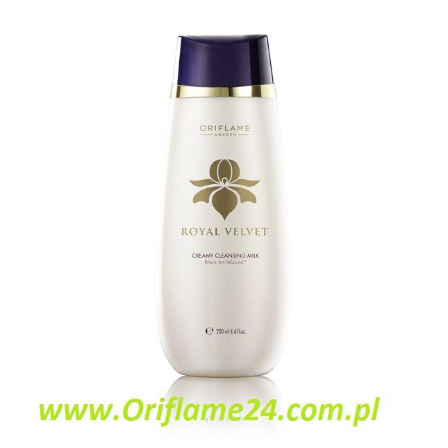 Royal Velvet Creamy Cleansing Milk - Kremowe mleczko oczyszczające Royal Velvet Oriflame. Nowa, lekka formuła, która pięknie rozprowadza się na skórze. Usuwa zanieczyszczenia i nie przesusza skóry, pomaga przywrócić jej blask. Wzbogacona ekstraktem z czarnego irysa. 200 ml