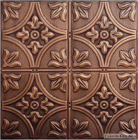 Antique Plated Copper Tin Ceiling Tile