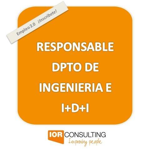 Empresa multinacional dedicada a la fabricación de valvulería industrial precisa incorporar a sus oficinas ubicadas en el área metropolitana de Barcelona un / una:           RESPONSABLE DEL DPTO DE INGENIERIA E I+D+I